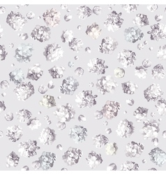 Gypsophila seamless pattern white vector