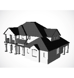 House made from dots vector image vector image