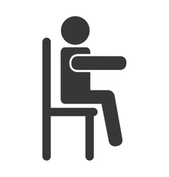 human figure silhouette siting in chair vector image vector image