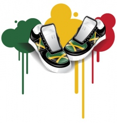 Jamaican sneakers vector