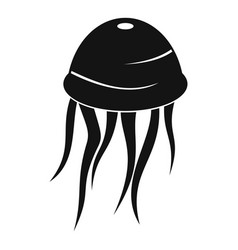 Jellyfish icon simple style vector