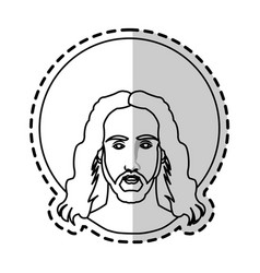 jesus christ christian icon image vector image vector image
