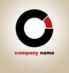 Logo icon company circle round link vector