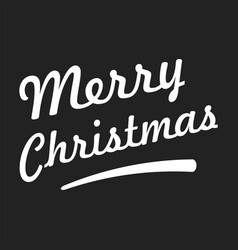 Merry christmas text on black background vector