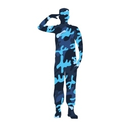 military figure avatar camouflage isolated icon vector image