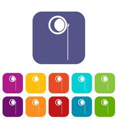 Monocle icons set vector