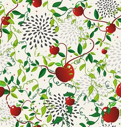 Red apple food seamless pattern vector image