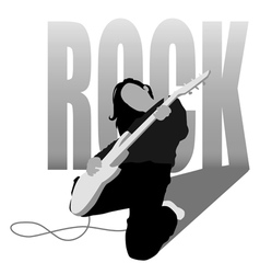 rock girl vector image vector image
