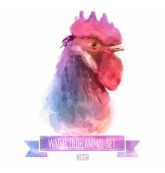 set of watercolor Cute cock vector image vector image