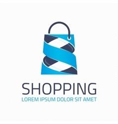 Shopping logo template vector image vector image
