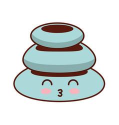 Stones pile spa kawaii character vector