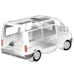 Van ifographics cutaway vector