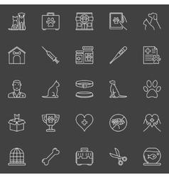 Veterinary clinic icons vector image vector image