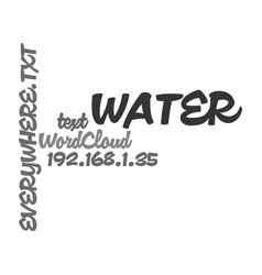 Water water everywhere text word cloud concept vector