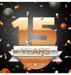 Fifteen years anniversary celebration background vector