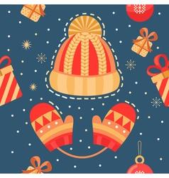 Christmas winter seamless pattern vector image