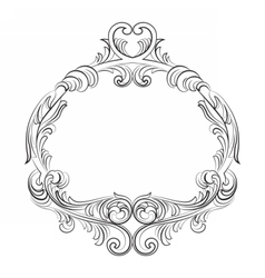 Baroque royal frame vector