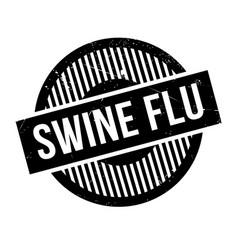 swine flu rubber stamp vector image