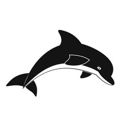 Jumping dolphin icon simple style vector