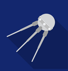 Sputnik one icon in flate style isolated on white vector