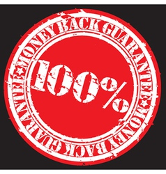 Money back guarantee 100 percent stamp vector