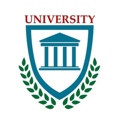 University emblem with laurel wreath vector