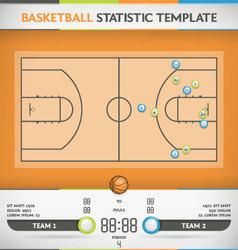 Basketball Statistic vector image