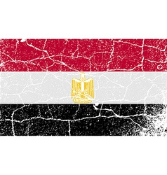 Flag of egypt with old texture vector
