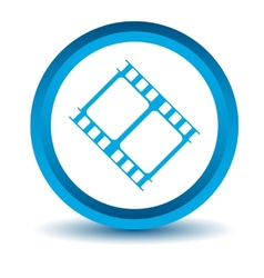 Blue movie icon vector