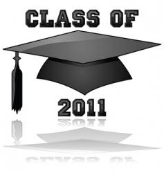 class of 2011 graduation vector image