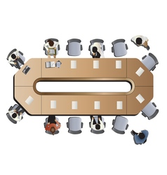 Office meeting top view set 3 vector