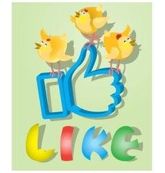 Like for easter holiday with three chickens vector