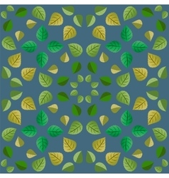 Geometric pattern with green leaves vector image