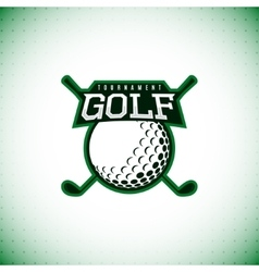Logo of golf tournament vector