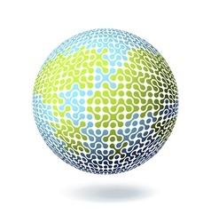 abstract earth connect symbol vector image