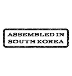 Assembled in south korea watermark stamp vector