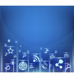 background of social media icons vector image