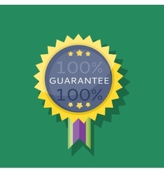 Badge sticker guarantee design flat vector