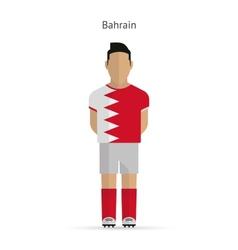 Bahrain football player soccer uniform vector