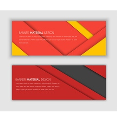 Banner in the style of the material design vector image vector image