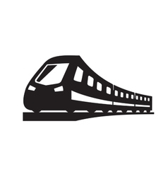 black Train icons vector image vector image