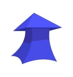 Blue thick arrow cartoon icon vector