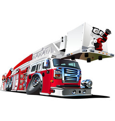 Cartoon Firetruck vector image vector image