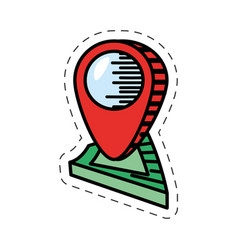 cartoon pointer map navigation location vector image vector image