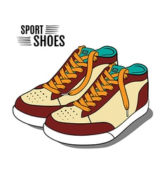 Cartoon sport shoes vector image vector image