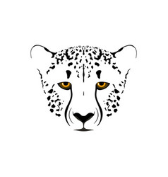 Cheetah head vector
