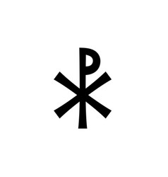 Christian monogram of jesus christ - christogram vector