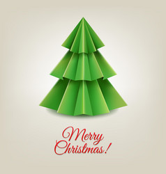 Christmas paper tree vector