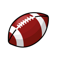 color american football and his ball icon vector image vector image