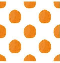 Dried apricot seamless pattern cartoon flat style vector